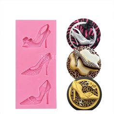 Katy Shoes 3D Sugar Cake Molds Soap Mould Fashion Silicone Cake Mold Fondant Cake Decorating Tool Chocolate Pastry Tool SM-372
