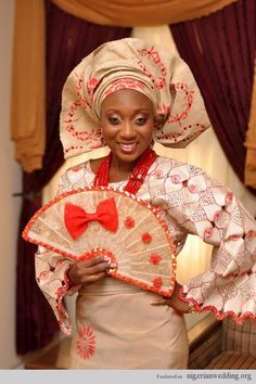 Nigerian Wedding Colors: Gorgeous Aso-Oke Color Ideas For Traditional Engagement Wedding African Wedding Attire, African Attire, African Dress, African Weddings, Nigerian Culture, African Culture, African Beauty, African Fashion, African Style