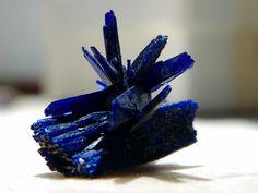 Azurite crystals, Morocco
