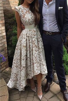 prom dresses 2017 hi low prom dresses,lace prom dresses,cap sleeves prom dresses,chic lace prom party dresses,fashion,women fashion