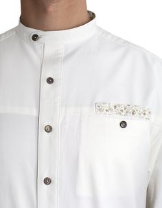 Natural white button-up, detail.