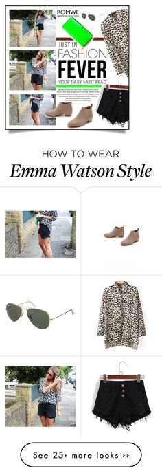 """""""Black shorts and animal print"""" by bo-jane on Polyvore"""