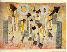Стенные росписи из замка сильных желаний, 1922. Пауль Клее
