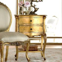 Rococo bedside from An Angel At My Side. It would be a great thing to have a king size bed and two of these.
