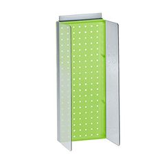 Azar Displays 700359GRE 8 W x 20625 H Pegboard Powerwing Display with 3 W Side Wings in Translucent Green -- Click image to review more details.