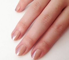 Minimalist Nude and Metallic Mani | 20 DIY Nail Tutorials You Need To Try This Fall