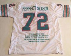 1972 Perfect Season Miami Dolphins Unsigned Custom White Stat Jersey | Sports Mem, Cards & Fan Shop, Fan Apparel & Souvenirs, Football-NFL | eBay!