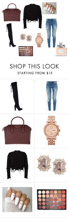 """2017"" by smbklyn on Polyvore featuring Ted Baker, Givenchy, FOSSIL, adidas Originals, Morphe and Christian Dior"