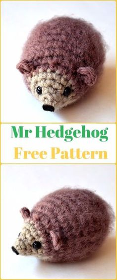 Amigurumi Crochet Mr Hedgehog Free Pattern - Crochet Hedgehog Free Patterns