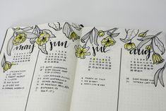 Liz @bonjournal_'s Future Log in her Bullet Journal