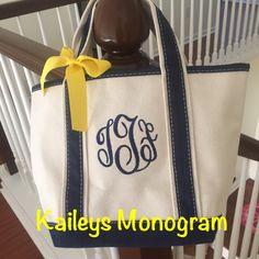 #monogram #baby #tote #etsy #kaileysmonogram