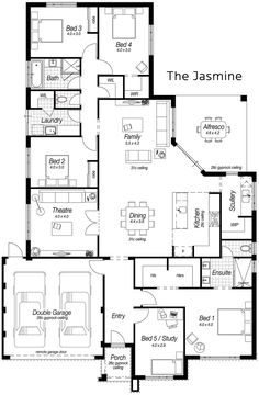 Single Storey House Designs Perth | The Jasmine | Ross North Homes