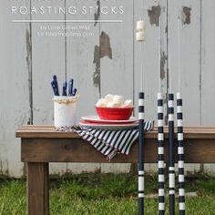 Make these DIY Marshmallow Roasting Sticks for summer bonfires! | Love Grows Wild for iheartnaptime.com