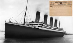 Telegram from Titanic proves owners lied about hearing nothing from it #DailyMail | These are some of the stories. See the rest @ http://twodaysnewstand.weebly.com/mail-onlinecom