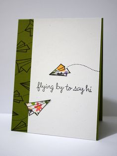 Hi by The Creation of Creativity, via Flickr  Lawn Fawn Flying By