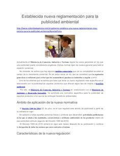 Establecida nueva reglamentación para la  publicidad ambiental