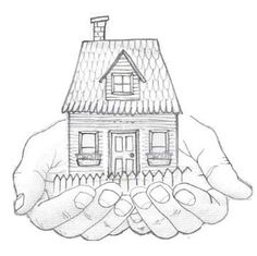 House Sketches custom pen and ink drawing of your home. this would also make a