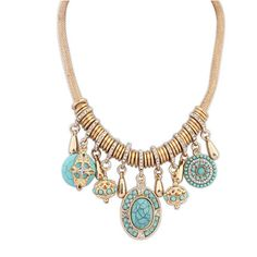 NEW fashion Exquisite Occident Style Crystal Gem Clavicle Stone Pendant Necklace