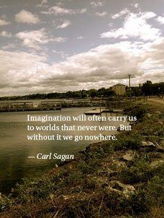Quote by Carl Sagan. Photo by Ashford Student.