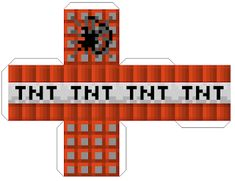 """Fill this Minecraft TNT block papercraft with candy - """"Valentine, You're the Bomb! Minecraft Crafts, Minecraft Box, Minecraft World, Minecraft Printable, Mine Craft Party, Minecraft Birthday Party, Birthday Box, Youre The Bomb, Printable Paper"""