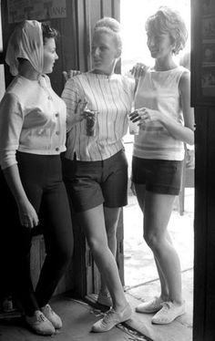 Hamptons in the 1960s  These pretty women know you can't hurry love.