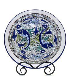 Aqua Fish Small Serving Bowl by Le Souk Ceramique #zulily #zulilyfinds