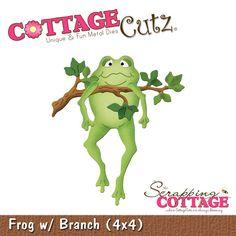 CottageCutz Frog w/ Branch (4x4)