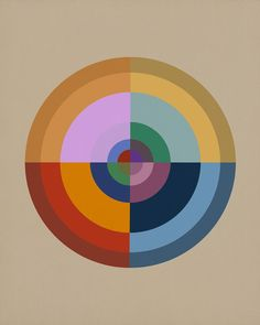 Colour Wheel ONE - Abstract Geometric Pop Art, 2016 Editions