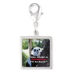 Silver Square PANDA Charm: Your fashionable, flamboyant Souvenir directly from Abu Dhabi proves: You travel the World, you are really not a couch potato!  Abu Dhabi, Emirates, UAE, Sheikh, fashion, travel, souvenir, Panda holiday, gift, love, great, fashion, present, novelty, World, apparel, OMG, BFF, humor, gag, cool, tablet, Google, shower curtain, sexy, picture, wall, Christmas, birthday, Valentine's day, poster, Easter, Halloween, music, Pin, Pinterest,