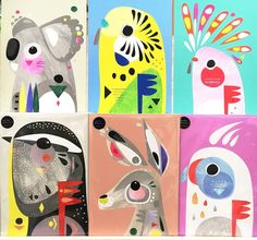 mammals art project for kids Lovely new prints from petecromer are available now in store and online. His technique ranges from loopy line drawings to technicolor prints using a sponge to compile quirky and colourful collages of Australian animals. Kunstjournal Inspiration, Art Journal Inspiration, Animal Drawings, Art Drawings, Australian Animals, Australian Art For Kids, Animal Art Projects, Quirky Art, Colorful Animals