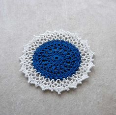 Petite Crochet Lace Accent Doily, Table Decor, Chic Design by NutmegCottage on Etsy
