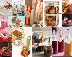 A great collection of edible gift ideas from Martha Stewart and Country Living Magazine, including infused sugars and liquors, spice mixes, jam, and more |  Simply Food Love: Simply Homemade Edible Gifts*