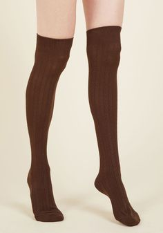 Greet Your Day Thigh Highs in Chocolate. Today, you revise your daily routine to include these brown thigh-highs! Brown Tights, Brown Booties, Thigh High Socks, Thigh Highs, Knee Highs, Winter Outfits, Summer Outfits, Foot Socks, Winter Leggings