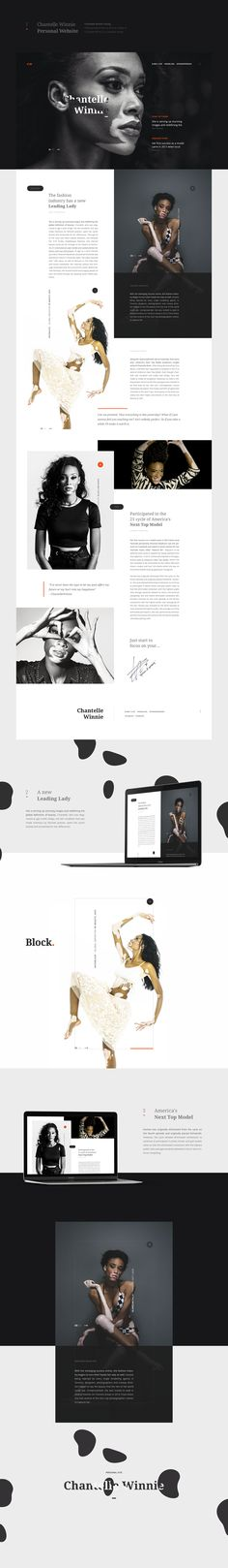 Chantelle Winnie Personal Website on Behance