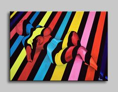 "Original abstract figure art on canvas. Ready to hang wall artwork. Size: 50x70 cm / 24""x28"" #art #paintings #abstract #acrylic #modern #original #wall #decor #gift #homedecor #home #nude #girl #colorful #popart"
