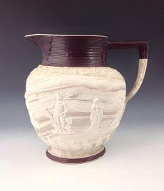 Nelson Commemorative Jug. Herculaneum Pottery, c. 1800. Rare.  £94