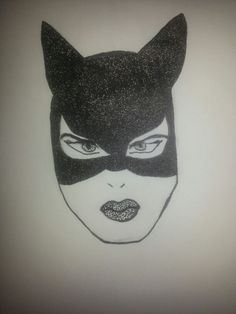 My drawing of catwoman done with micronpen and did it with stippling