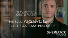 SHERLOCK (BBC) ~ S4 E1: The Six Thatchers. Benedict Cumberbatch & Martin Freeman.