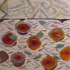 'Figs, Almonds and Mint' by artist Dimity Kidston. Tapestry. uploaded to pinterest by artist