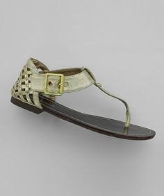 Take a look at this Gold Golden Sandal by Pierre Dumas on #zulily today!