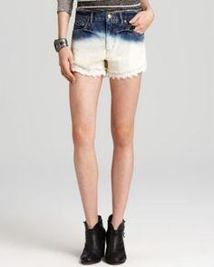Summer Fashion Trends: Dip-Dye Shorts (Free People Dip Dye Lacey Shorts)