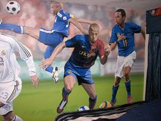 Soccer Wall Murals for Kids Room Decor