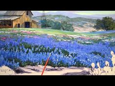 Painting Bluebonnets – Mikki Senkarik Acrylic Painting Lessons, Acrylic Painting Tutorials, Painting Videos, Painting Techniques, Landscape Paintings, Landscapes, Texas Bluebonnets, Drawing Projects, Step By Step Painting