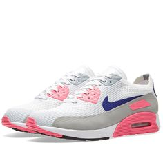 check deze Nike W Air Max 90 Ultra 2.0 Flyknit (White)
