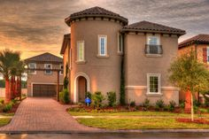 Step into the Mediterranean, the gorgeous Lucca Model by ICI Homes in Siena at Town Center. #Mediterranean #Exterior