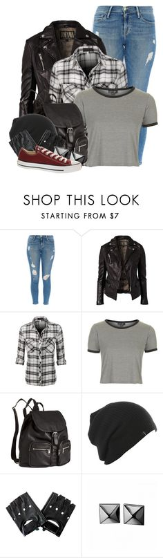 """""""Claire Novak"""" by cinna78 ❤ liked on Polyvore featuring Frame, Jofama, Topshop, H&M, Waterford, Converse, wearwhatyouwatch, TV, supernatural and spn"""