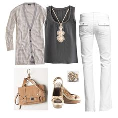 Love white jeans. From polyvore