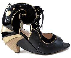 FAUNO BLACK - Louloux - Sapatos Colecionáveis  #differentheels #shoes #handmade