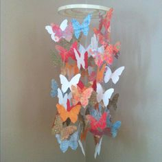 My DIY butterfly mobile for baby room