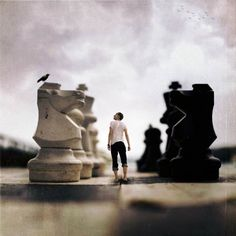 """""""I've heard you're good at playing chess...is it true?"""" The boy swallows thickly and lets out a shaky breath; he has no idea were he is. """"Yeah, I play chess,"""" he replies. """"Well, I wouldn't expect anything less for the son of Alice,"""" said the voice. -Emma Kenny"""